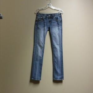 Women's Miss Me Light Wash Straight Leg Sz 28